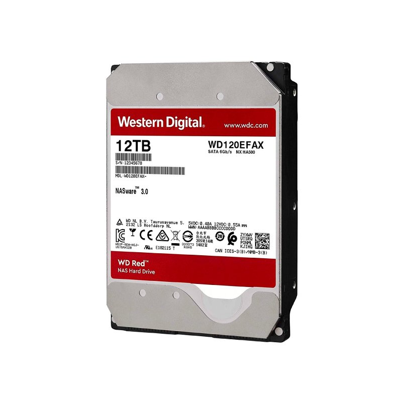 HD INTERNO 12TB WESTERN DIGITAL RED SATAIII 256MB WD120EFAX