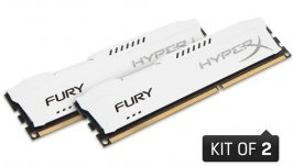 MEMÓRIA 8GB DDR3 1866MHZ 1.5V HYPERX FURY BRANCA (KIT OF 2) - DESKTOP