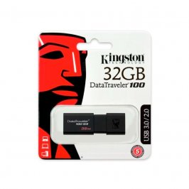 PEN DRIVE KINGSTON DATATRAVELER USB 3.0 32GB PRETO - DT100G3/32GB