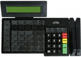 TECLADO PROGRAMAVEL GERTEC TEC 55 DISPLAY E LEITOR TRILHA 2 PS2