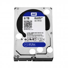 HD INTERNO 6TB WESTERN DIGITAL BLUE SATAIII 64MB (WD60EZRZ)