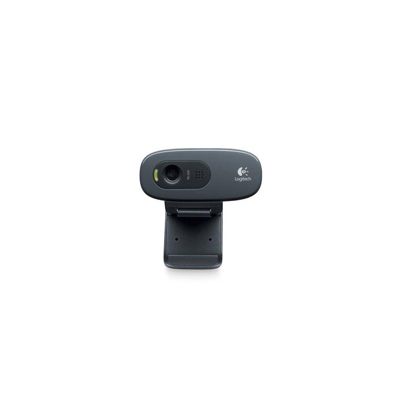 Web Cam USB HD 720P C270 Com microfone - Preto LOGITECH