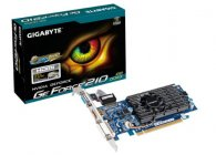 PLACA DE VIDEO GIGABYTE GEFORCE GT 210 1GB DDR3 64 BITS VGA/HDMI/DVI - PCIE 2.0 - GV-N210D3-1GI