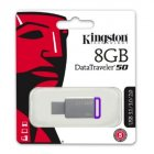 PEN DRIVE KINGSTON DATATRAVELER 50 USB 3.1 8GB METAL/ROXO - DT50/8GB