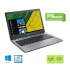 NOTEBOOK ACER F5-573G-519X CORE I5 7200U 8GB 2TB 15,6 PLACA DE VIDEO GEFORCE 940MX 2GB WINDOWS 10 HOME PRATA