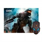 KIT MOUSE USB GAMER E MOUSEPAD MC100 OEX