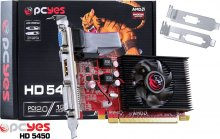 PLACA DE VIDEO PCYES RADEON HD 5450 - 1GB DDR3 64 BITS DVI/HDMI/VGA - PCIE 2.0 - LOW PROFILE - PS54506401D3LP
