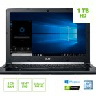 NOTEBOOK ACER A515-51G-72DB INTEL CORE I7 7500U 8GB 1TB 15,6 FULL HD GEFORCE GTX 940MX 2GB WINDOWS 10 HOME PRATA