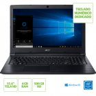 NOTEBOOK ACER A315-33-C39F INTEL CELERON N3060 4GB 500GB 15,6 WINDOWS 10 HOME PRETO